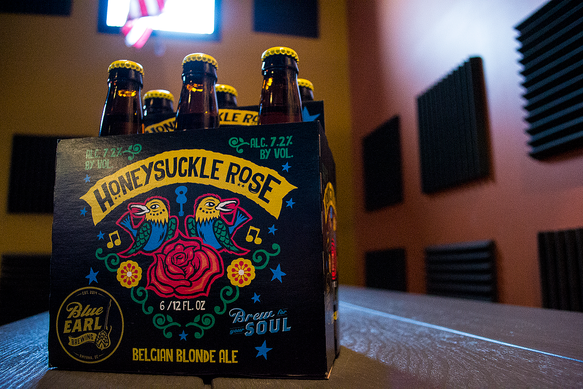 A Six Pack of Honeysuckle Rose by Blue Earl Brewing