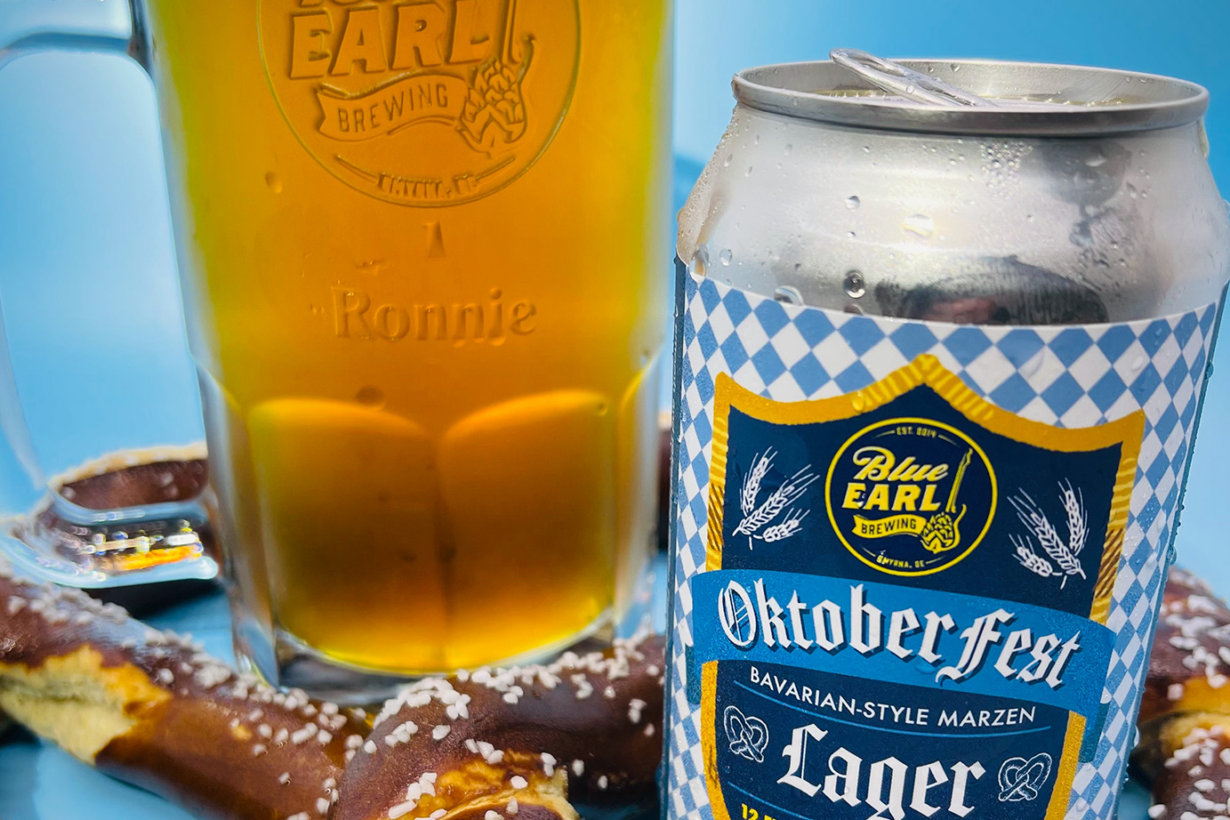 Some Oktoberfest action comin' at ya from Blue Earl Brewing.